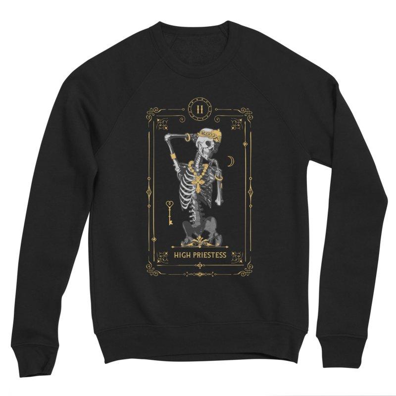 High Priestess II Tarot Card Men's Sponge Fleece Sweatshirt by Grandio Design Artist Shop
