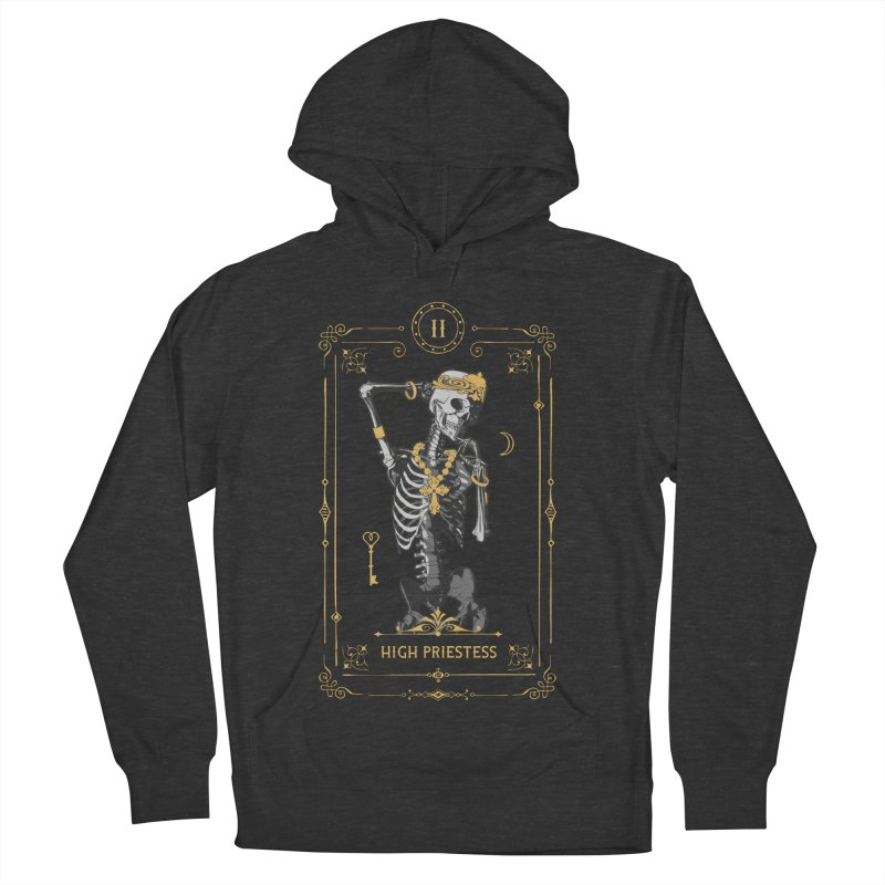 High Priestess II Tarot Card Women's French Terry Pullover Hoody by Grandio Design Artist Shop