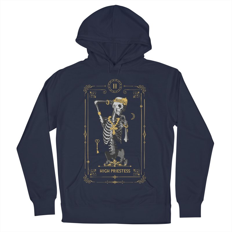 High Priestess II Tarot Card Men's French Terry Pullover Hoody by Grandio Design Artist Shop