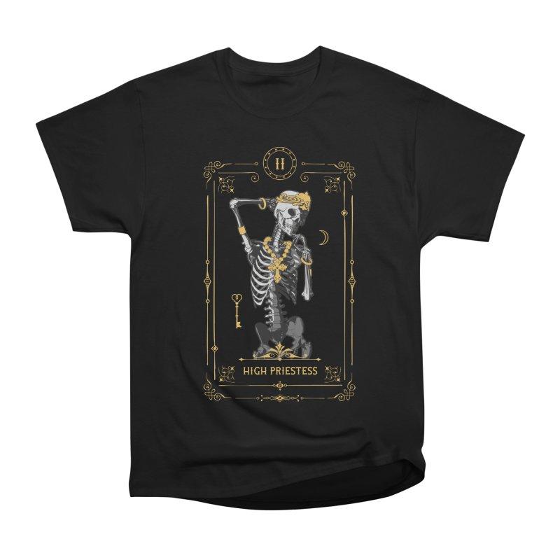 High Priestess II Tarot Card Women's Heavyweight Unisex T-Shirt by Grandio Design Artist Shop