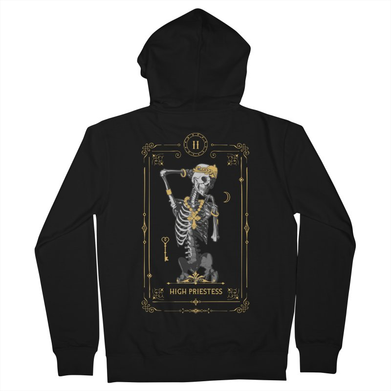 High Priestess II Tarot Card Women's French Terry Zip-Up Hoody by Grandio Design Artist Shop