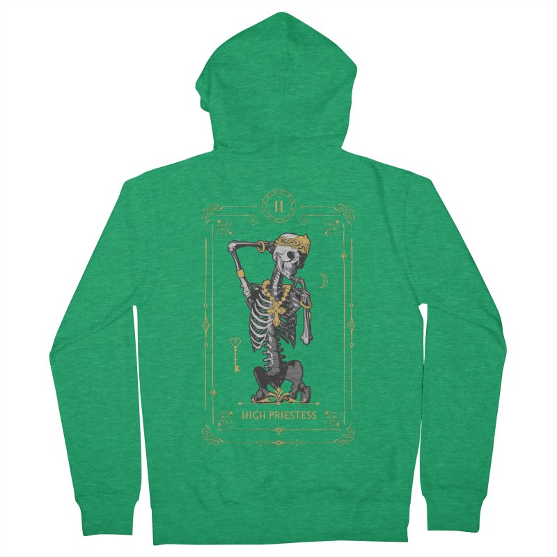 High Priestess II Tarot Card Men's French Terry Zip-Up Hoody by Grandio Design Artist Shop