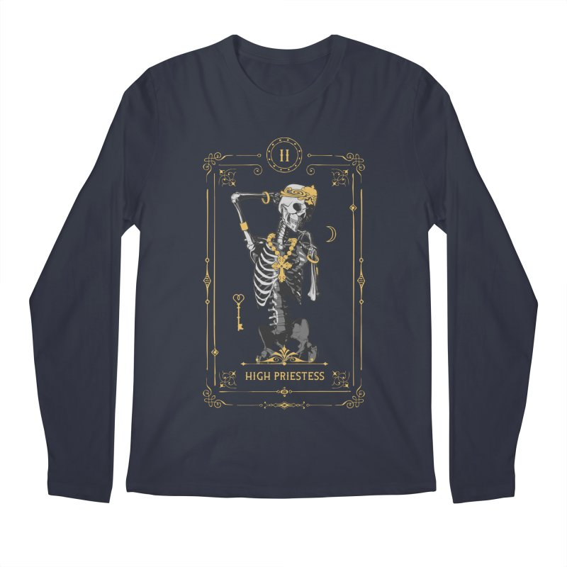 High Priestess II Tarot Card Men's Regular Longsleeve T-Shirt by Grandio Design Artist Shop