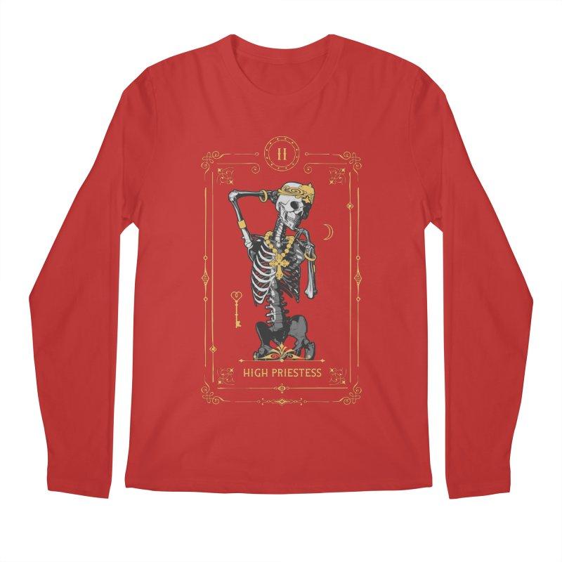 High Priestess II Tarot Card Men's Regular Longsleeve T-Shirt by Grandio Design Artist Shop