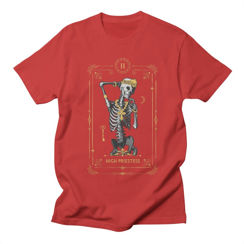 High Priestess II Tarot Card Women's Regular Unisex T-Shirt by Grandio Design Artist Shop