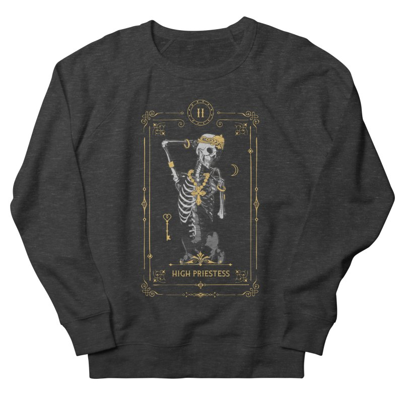 High Priestess II Tarot Card Men's French Terry Sweatshirt by Grandio Design Artist Shop