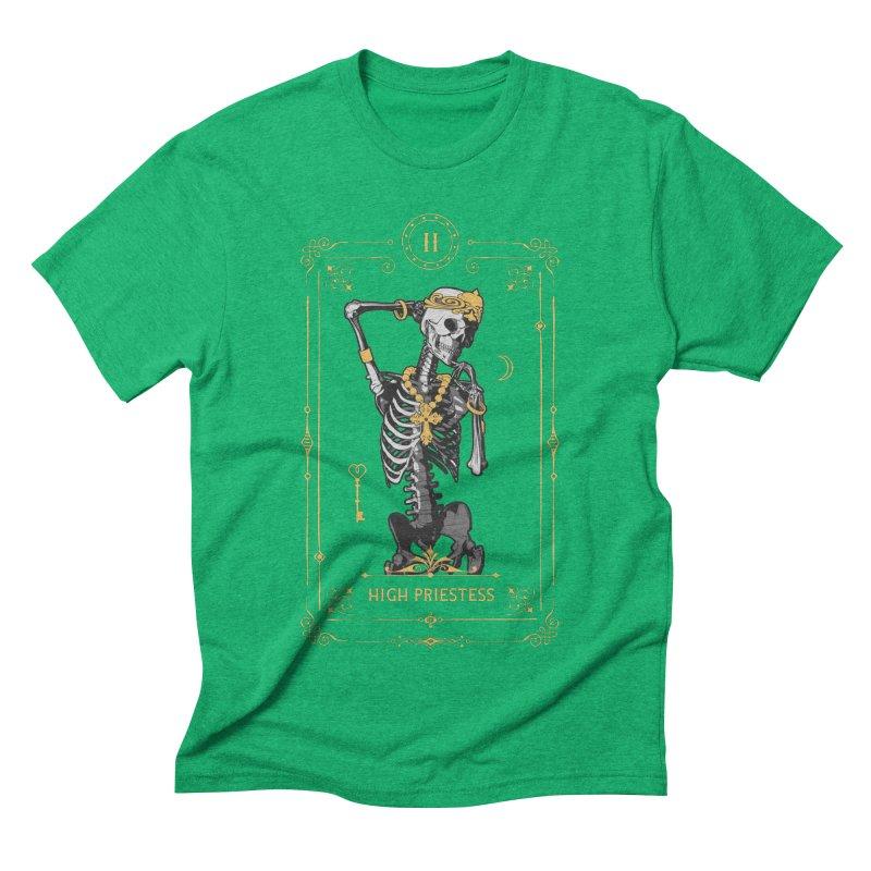 High Priestess II Tarot Card Men's Triblend T-Shirt by Grandio Design Artist Shop
