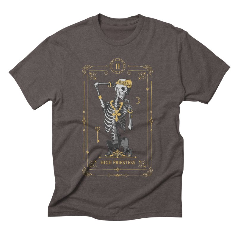 High Priestess II Tarot Card Men's Triblend T-Shirt by Grandio Design Artist Shop