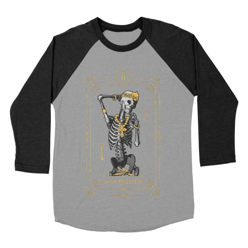 High Priestess II Tarot Card Women's Baseball Triblend Longsleeve T-Shirt by Grandio Design Artist Shop