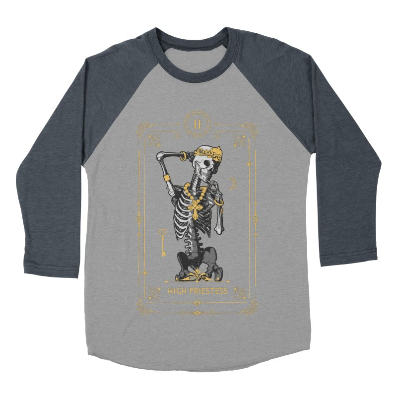 High Priestess II Tarot Card Men's Baseball Triblend Longsleeve T-Shirt by Grandio Design Artist Shop