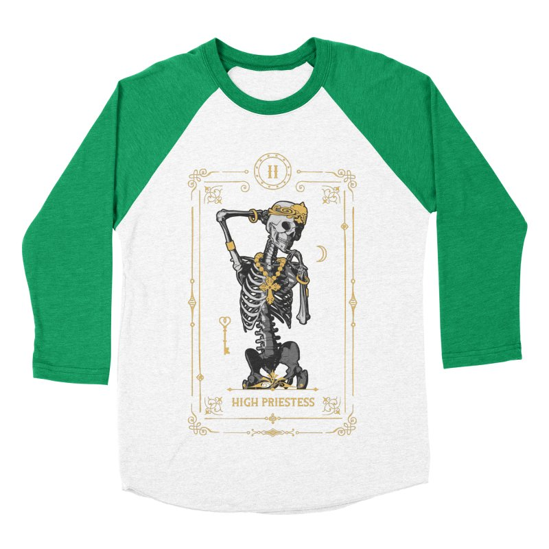 High Priestess II Tarot Card Men's Baseball Triblend Longsleeve T-Shirt by Grandio Design Artist Shop