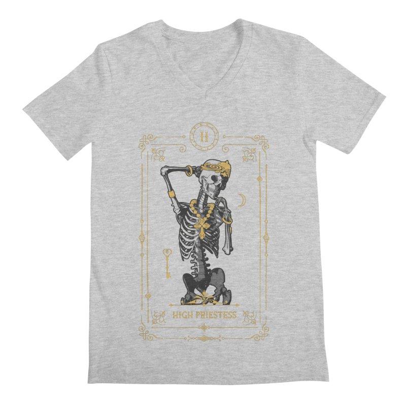 High Priestess II Tarot Card Men's Regular V-Neck by Grandio Design Artist Shop