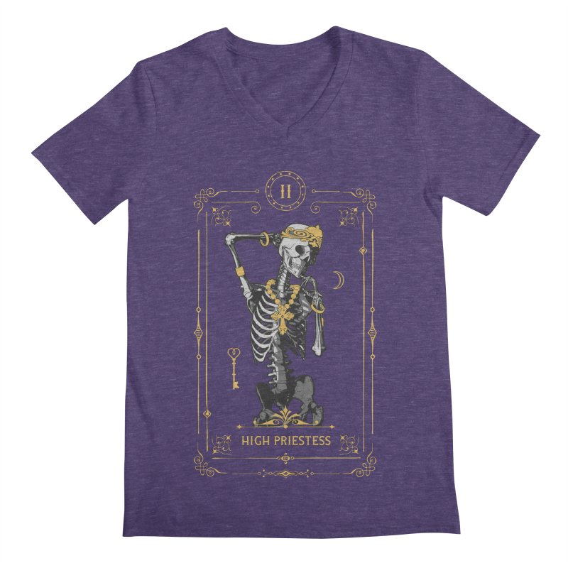 High Priestess II Tarot Card Men's Regular V-Neck by Grandio Design Artist Shop