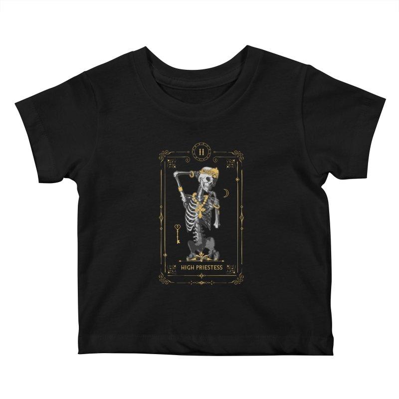 High Priestess II Tarot Card Kids Baby T-Shirt by Grandio Design Artist Shop