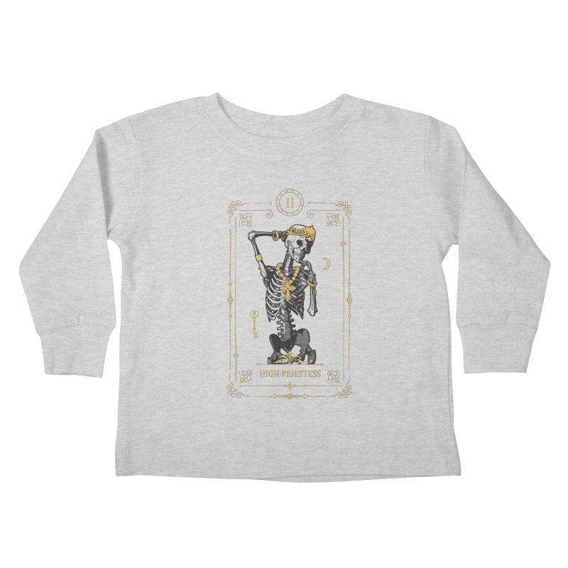 High Priestess II Tarot Card Kids Toddler Longsleeve T-Shirt by Grandio Design Artist Shop