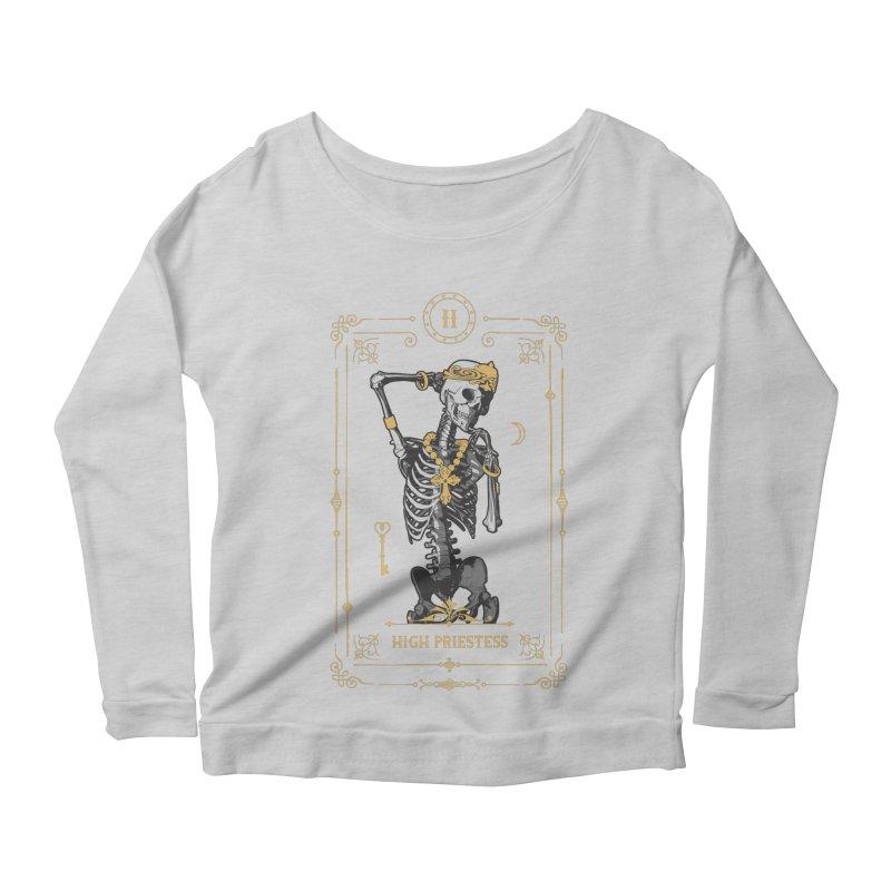 High Priestess II Tarot Card Women's Scoop Neck Longsleeve T-Shirt by Grandio Design Artist Shop