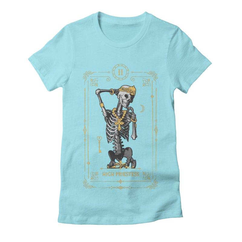 High Priestess II Tarot Card Women's Fitted T-Shirt by Grandio Design Artist Shop