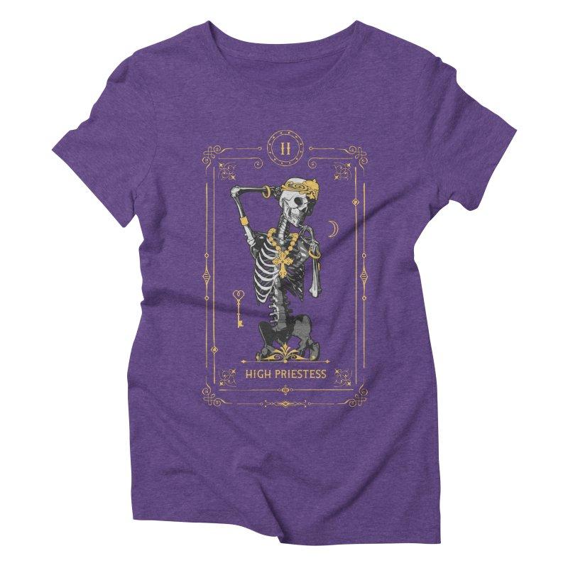 High Priestess II Tarot Card Women's Triblend T-Shirt by Grandio Design Artist Shop