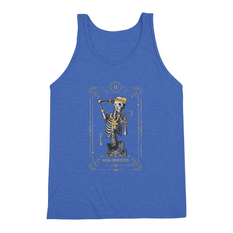 High Priestess II Tarot Card Men's Triblend Tank by Grandio Design Artist Shop