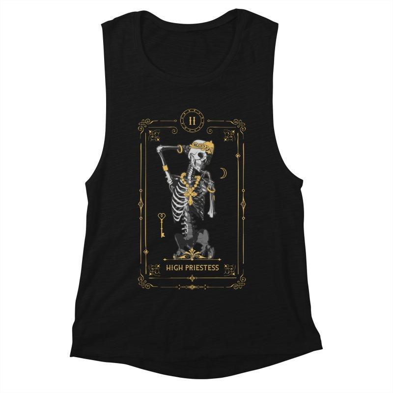 High Priestess II Tarot Card Women's Muscle Tank by Grandio Design Artist Shop