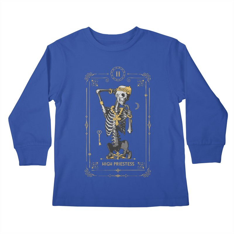 High Priestess II Tarot Card Kids Longsleeve T-Shirt by Grandio Design Artist Shop