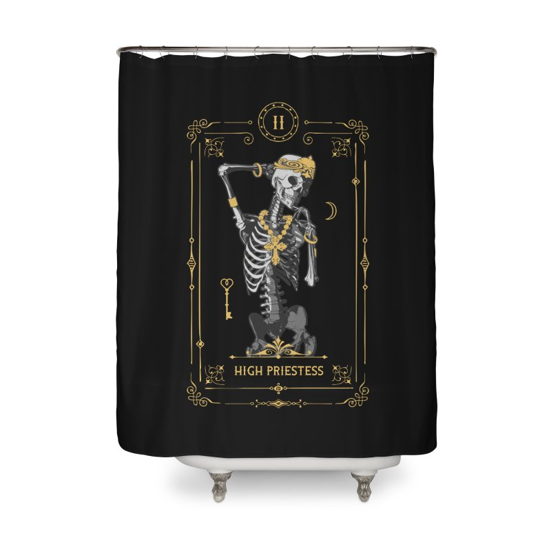 High Priestess II Tarot Card Home Shower Curtain by Grandio Design Artist Shop
