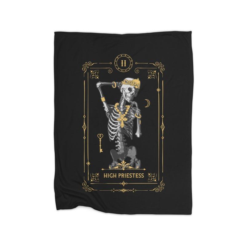 High Priestess II Tarot Card Home Blanket by Grandio Design Artist Shop