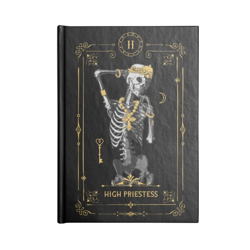 High Priestess II Tarot Card Accessories Notebook by Grandio Design Artist Shop
