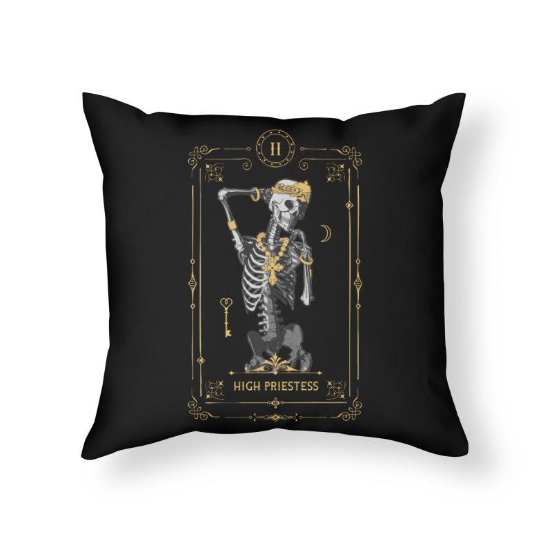 High Priestess II Tarot Card Home Throw Pillow by Grandio Design Artist Shop