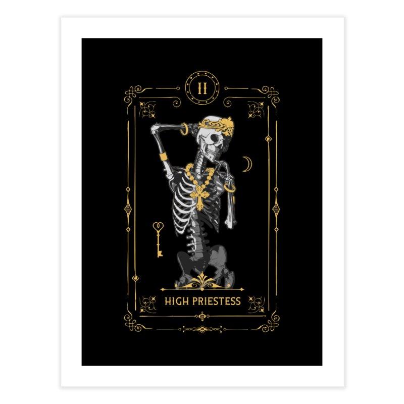 High Priestess II Tarot Card Home Fine Art Print by Grandio Design Artist Shop