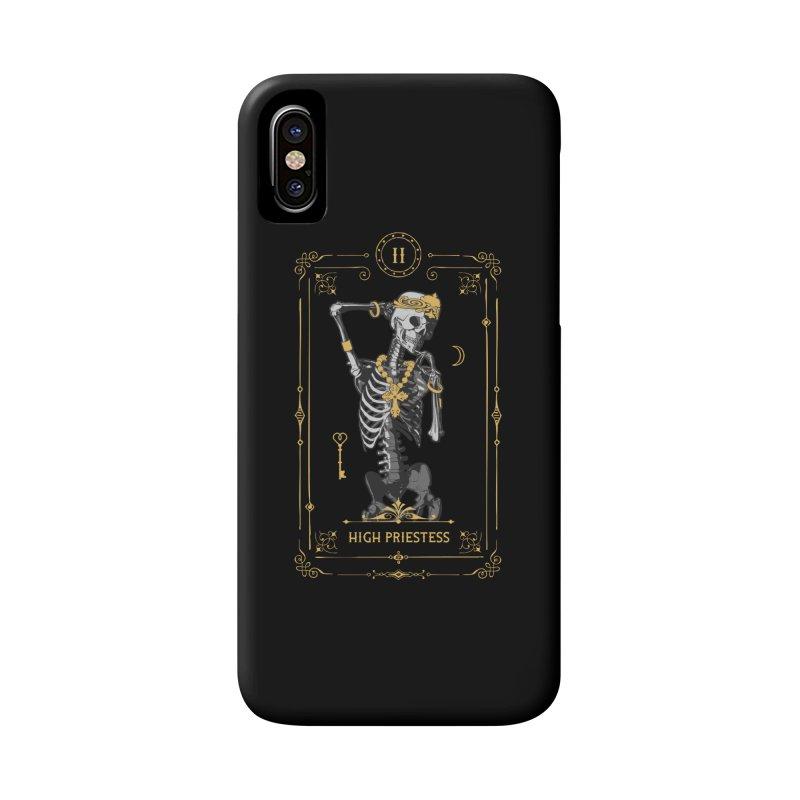 High Priestess II Tarot Card Accessories Phone Case by Grandio Design Artist Shop