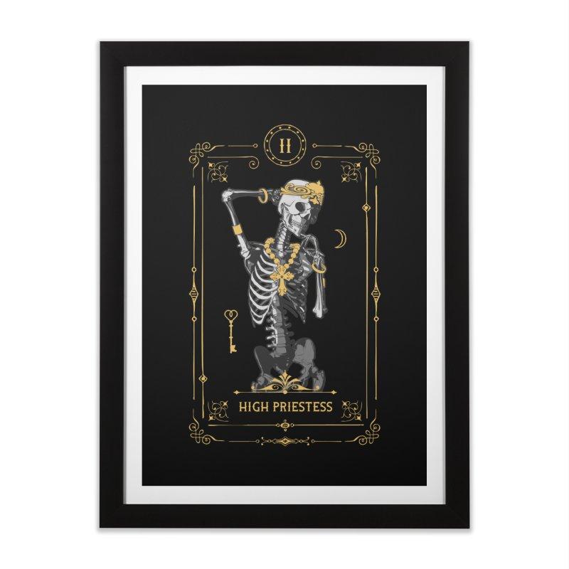 High Priestess II Tarot Card Home Framed Fine Art Print by Grandio Design Artist Shop