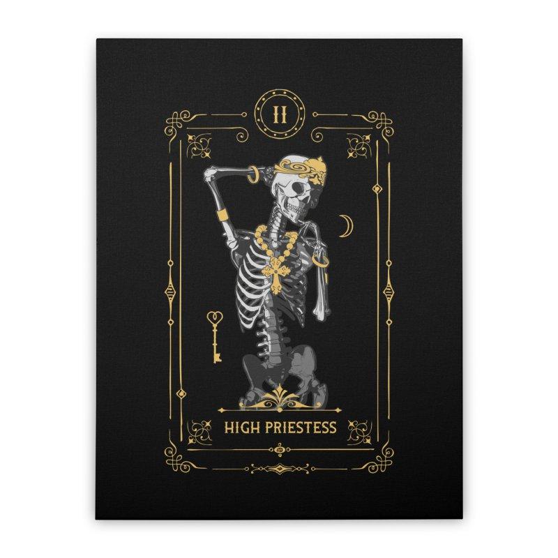 High Priestess II Tarot Card Home Stretched Canvas by Grandio Design Artist Shop