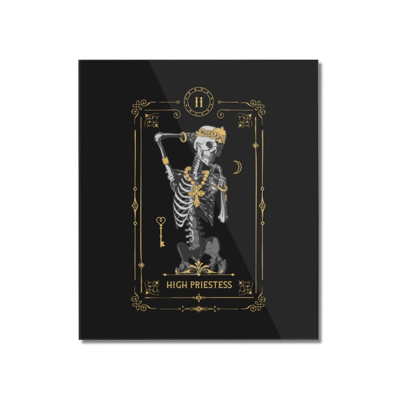 High Priestess II Tarot Card Home Mounted Acrylic Print by Grandio Design Artist Shop