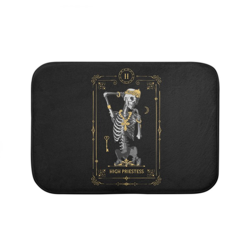 High Priestess II Tarot Card Home Bath Mat by Grandio Design Artist Shop