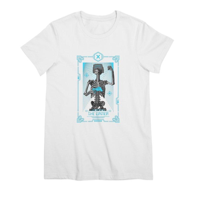 The Gamer X Tarot Card Women's Premium T-Shirt by Grandio Design Artist Shop