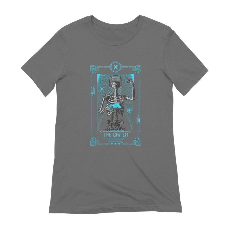 The Gamer X Tarot Card Women's Extra Soft T-Shirt by Grandio Design Artist Shop