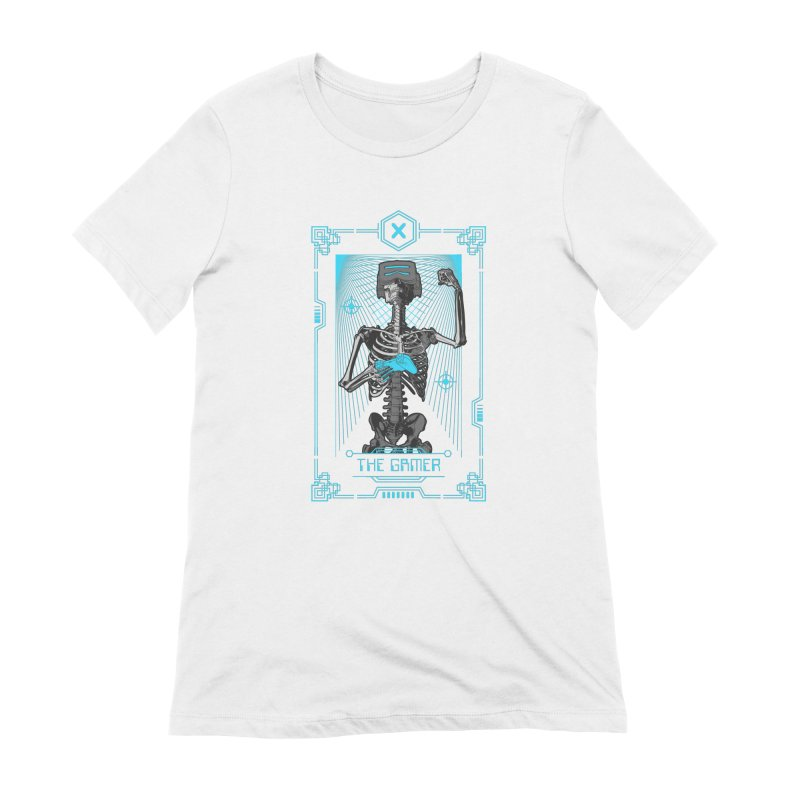 The Gamer X Tarot Card Women's Extra Soft T-Shirt by Grandio Design Artist Shop