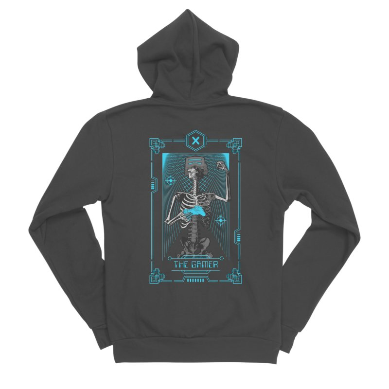 The Gamer X Tarot Card Women's Sponge Fleece Zip-Up Hoody by Grandio Design Artist Shop