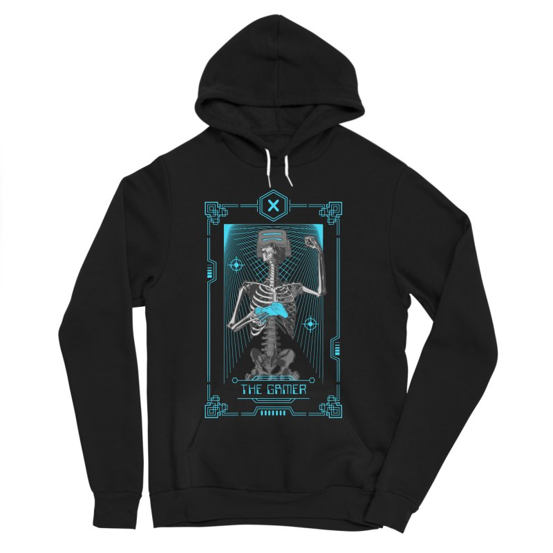 The Gamer X Tarot Card Women's Sponge Fleece Pullover Hoody by Grandio Design Artist Shop