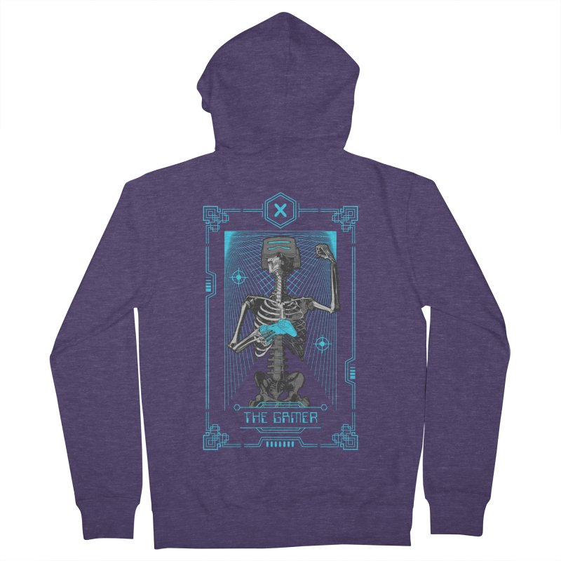 The Gamer X Tarot Card Men's French Terry Zip-Up Hoody by Grandio Design Artist Shop