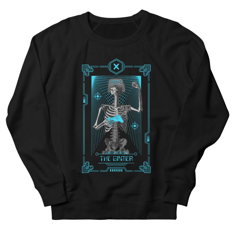 The Gamer X Tarot Card Women's French Terry Sweatshirt by Grandio Design Artist Shop