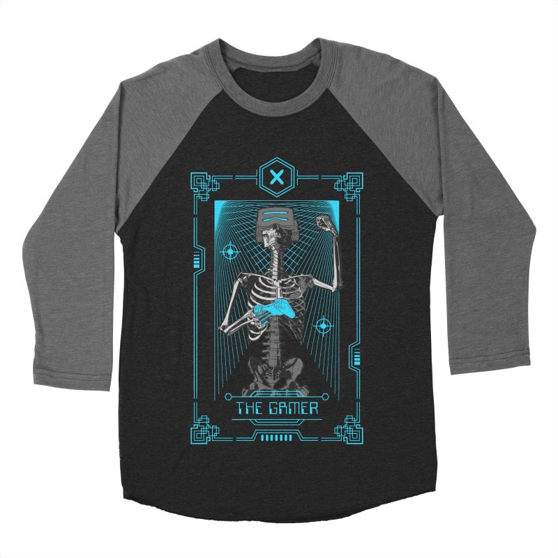 The Gamer X Tarot Card Men's Baseball Triblend Longsleeve T-Shirt by Grandio Design Artist Shop
