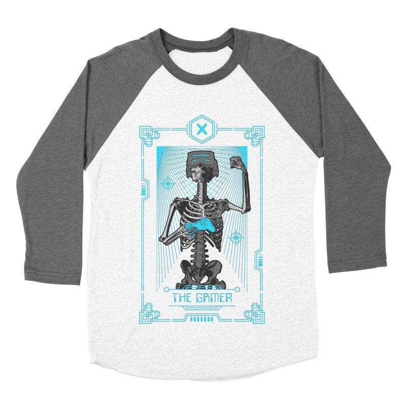 The Gamer X Tarot Card Men's Baseball Triblend Longsleeve T-Shirt by Grandio Design Artist Shop
