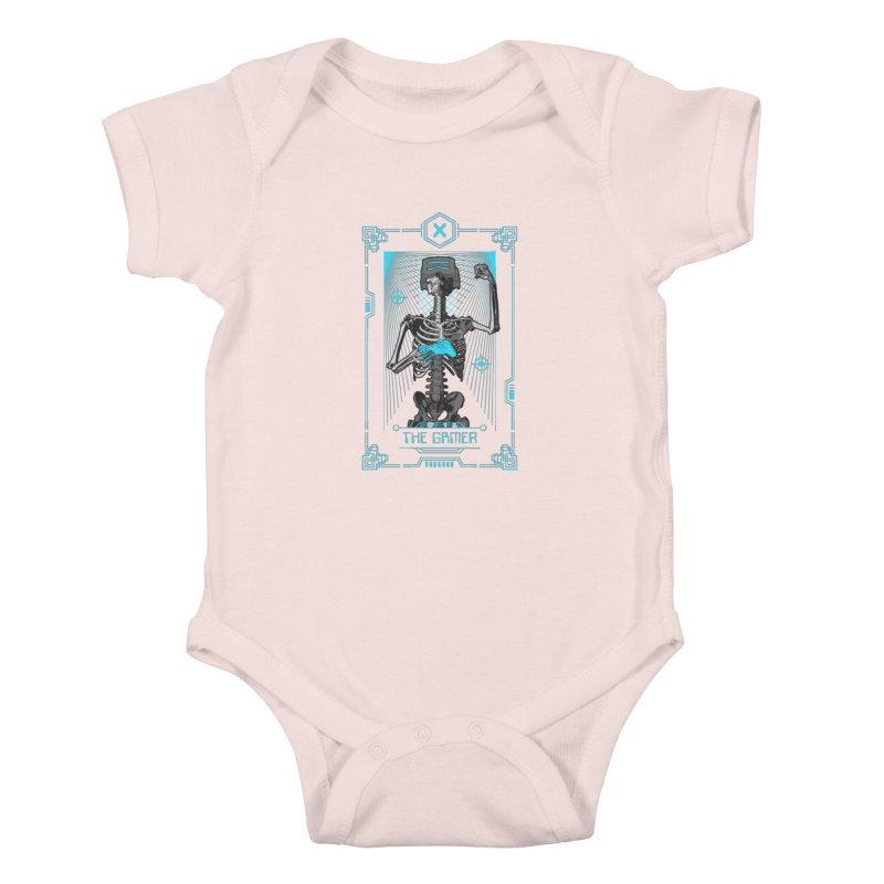 The Gamer X Tarot Card Kids Baby Bodysuit by Grandio Design Artist Shop