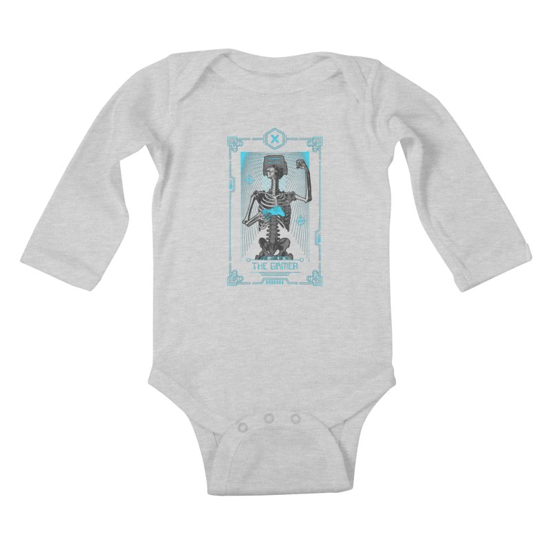 The Gamer X Tarot Card Kids Baby Longsleeve Bodysuit by Grandio Design Artist Shop