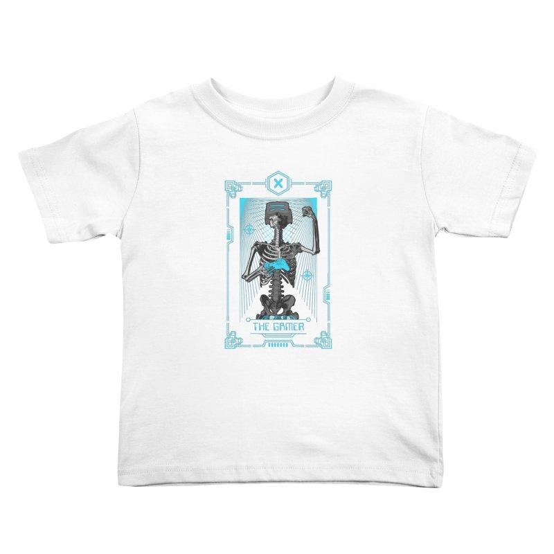 The Gamer X Tarot Card Kids Toddler T-Shirt by Grandio Design Artist Shop
