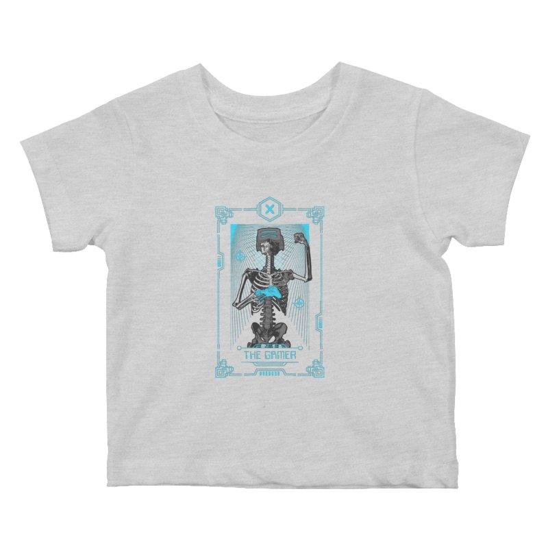 The Gamer X Tarot Card Kids Baby T-Shirt by Grandio Design Artist Shop