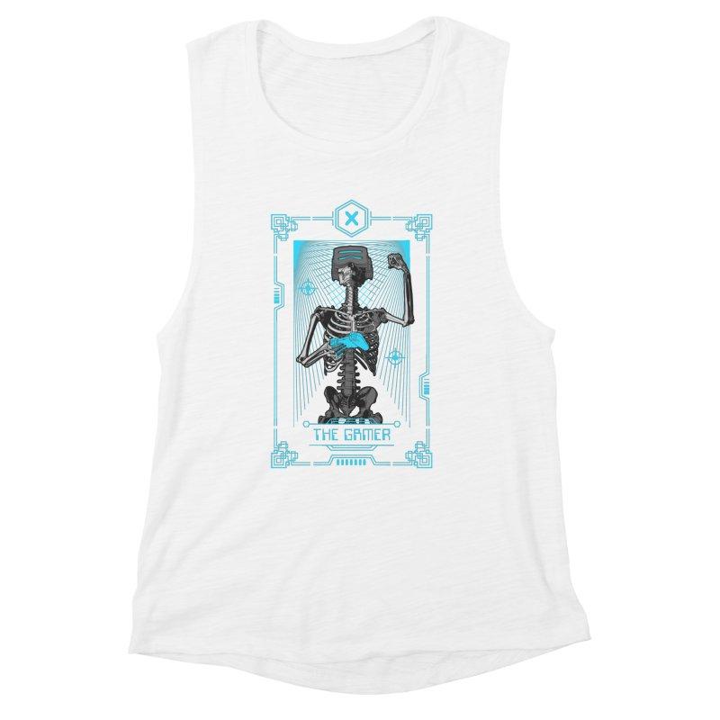 The Gamer X Tarot Card Women's Muscle Tank by Grandio Design Artist Shop