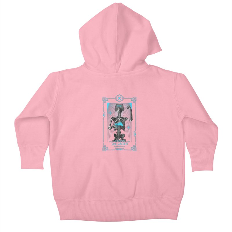 The Gamer X Tarot Card Kids Baby Zip-Up Hoody by Grandio Design Artist Shop